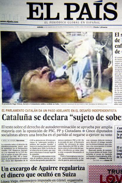 El diario 'El País' se vio obligado a pedir disculpas tras publicar en p...