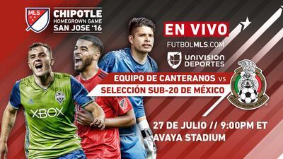 Esta noche en vivo por FutbolMLS.com, el Equipo de Canteranos de la MLS vs. selección sub-20 de México