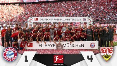 En fotos: Stuttgart empañó el festejo del Bayern Múnich con goleada