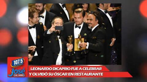¿Que DiCaprio casi olvida su Oscar en un restaurante?