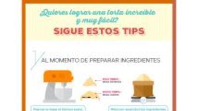 Sigue estos consejos para que cada torta que confecciones quede perfecta...