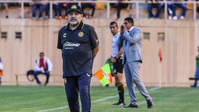 En fotos: la primera derrota de Diego Maradona como técnico de Dorados