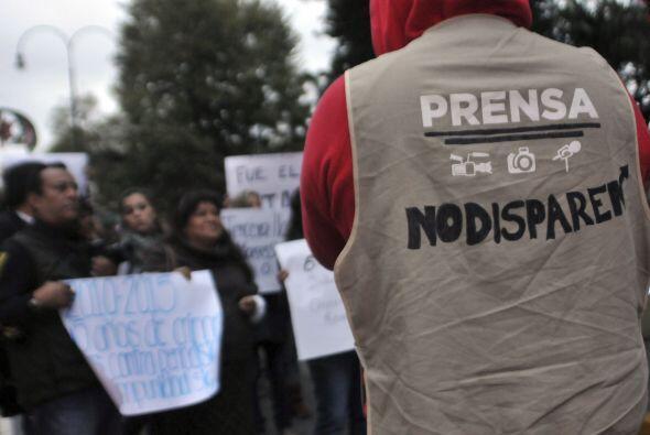 En enero de este año, formó parte de la manifestación para exigir la apa...