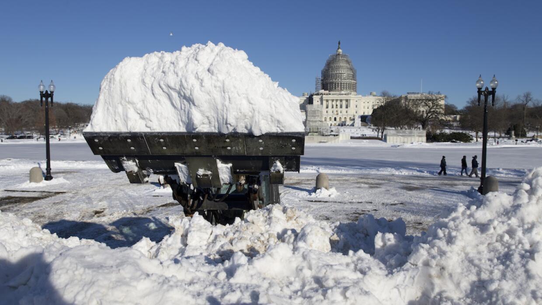 Excavadora para retirar nieve