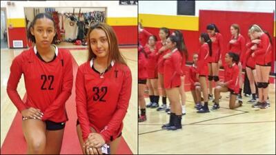 Chirstine Sosa y Kassandra Chacón Salgado, estudiantes de Taft High School.