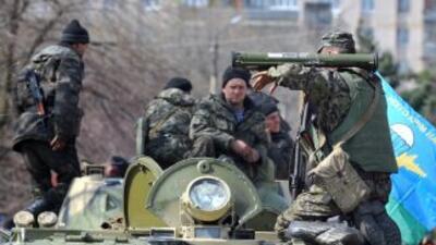 Unidades blindadas de Ucrania.
