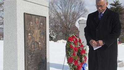 El administrador de la NASA Charles Bolden en la ceremonia de recordació...