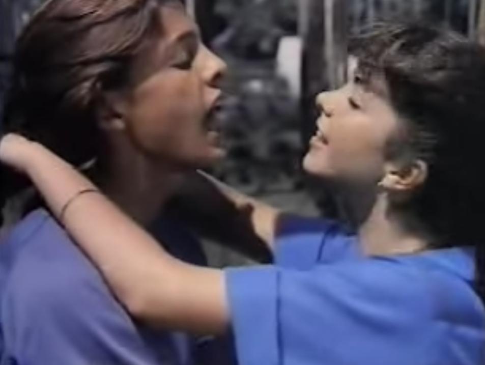Con Lucerito en 'Todo el amor del mundo', 1985