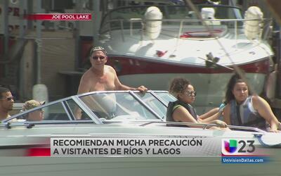 Mucha precaución cuando vaya a los lagos