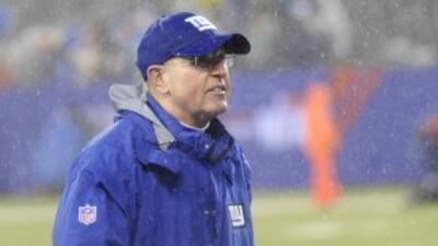 Tom Coughlin quiere quedarse con los Giants (AP-NFL).