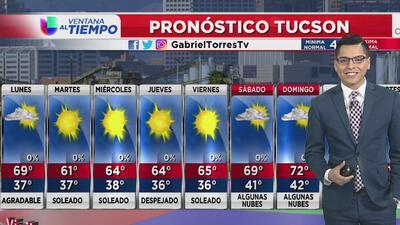 Inicio de semana con condiciones agradables en Arizona
