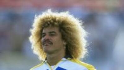 El estelar delantero colombianoCarlos Valderrama fue, en 1999, una de l...