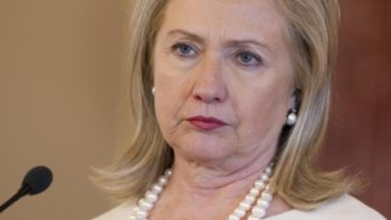 La Secretaria de Estado de EU, Hillary Clinton.