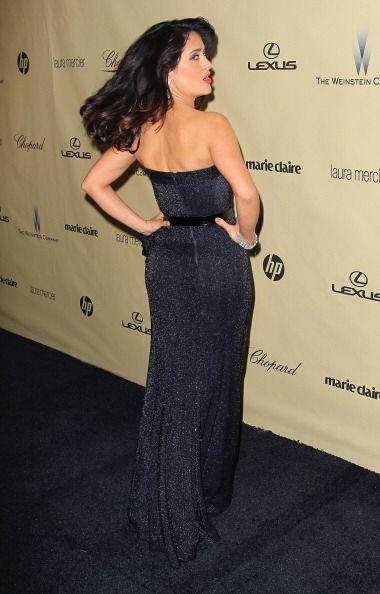 ¡Y no sólo eso! Salma Hayek lo único que tiene delgado es su cintura, pu...