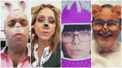 Con filtros de Snapchat, cuatro famosos se 'postulan' como presidente de los Estados Unidos (y esto ofrecen)