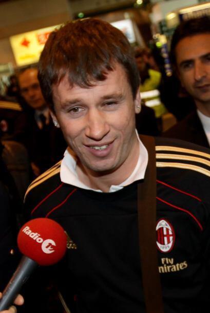 Se le vio emocionado por iniciar su etapa con el cuadro 'rossonero'.