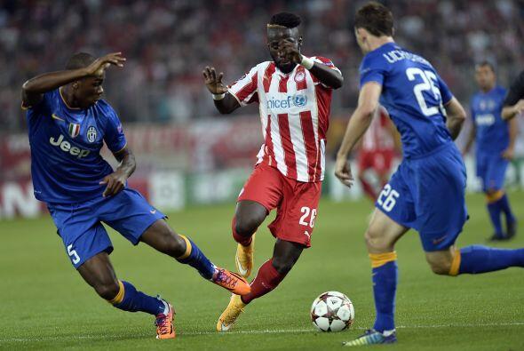 Olympiakos sorpendió al campeón italiano, Juventus, al ven...