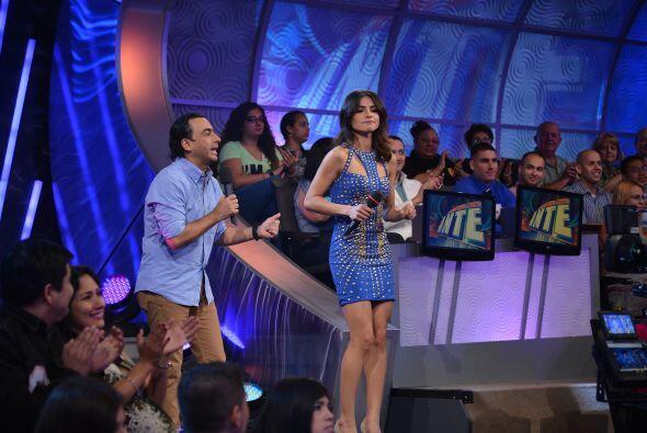 Y aprovechaban para bailar antes de dar a conocer a la pareja ganadora.