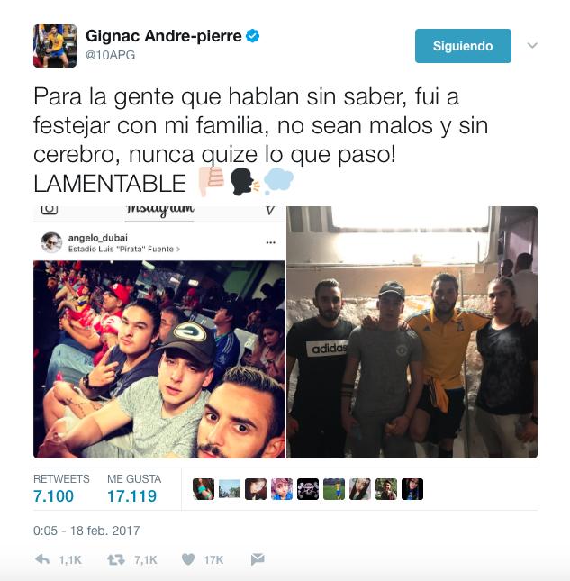 André-Pierre Gignac amenazó con irse de México a través de su cuenta de...