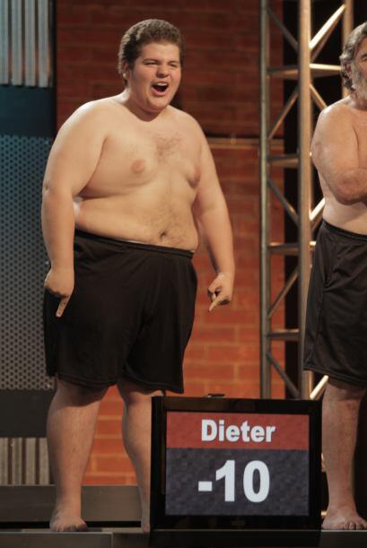 A mitad de la competencia los cambios físicos de Dieter eran notables y...