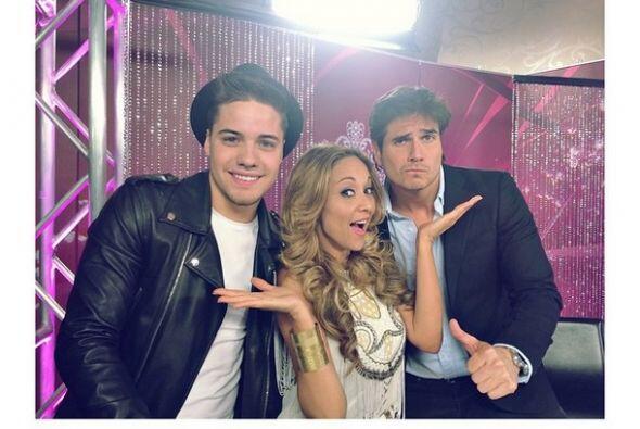 """""""En la audiciones de @NuestraBellezaLatina con @DanArenas y @veronicabas..."""