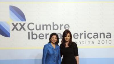 Las presidentas de Argentina y Costa Rica, dos de las grandes ausentes.
