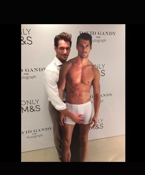 El modelo David Gandy lo hizo muy a su manera, pues en vez de hacerlo co...