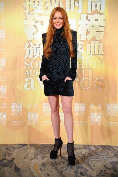 ¡A Lindsay Lohan  le robaron el cuello! Horrendo este 'modelito' que usó...