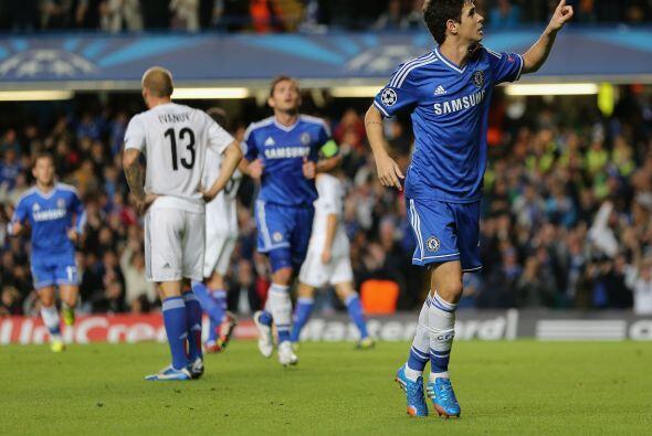 El brasileño Oscar abrió el marcador cerca de que se llegara al primer t...