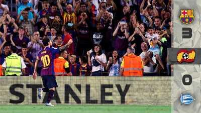 Barcelona mantiene su corona intacta al vencer al Alavés en el debut de la Liga