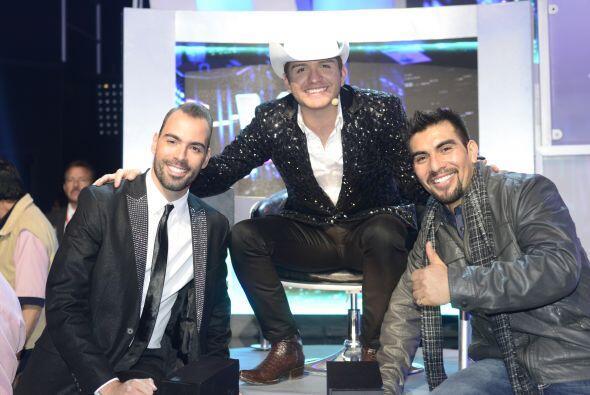 El Dasa con sus ex pupilos, Arias Martin y Enrique Tello.