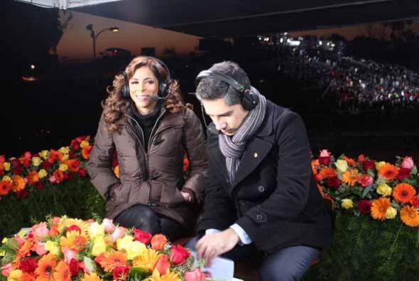 Lourdes y Alejandro vieron la salida del sol desde la torre de transmisi...