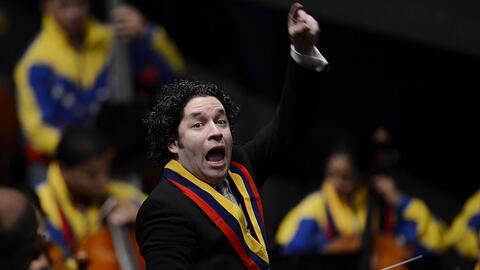 Gustavo Dudamel, aclamado director de orquesta venezolano y actual condu...