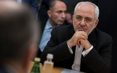 El ministro de asuntos exteriores de Irán, Mohammed Javad Zarif,...