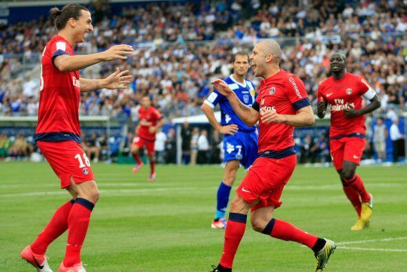El delantero sueco marcó dos goles ante el modesto Bastia.