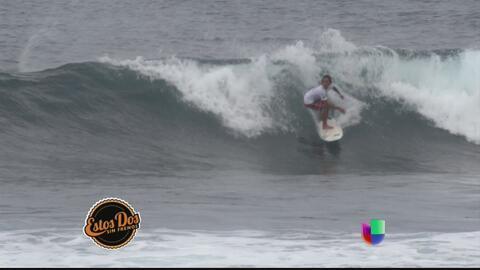 Víctor y José le caen al Corona Pro Surf Circuit, en Isabela