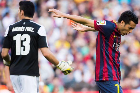 Del otro lado de la moneda está Pedro, que ha rendido para el Barcelona...