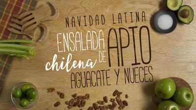 """Ensalada de apio, aguacate y nueces - El Recetario """"Navidad Latina"""" #Com..."""