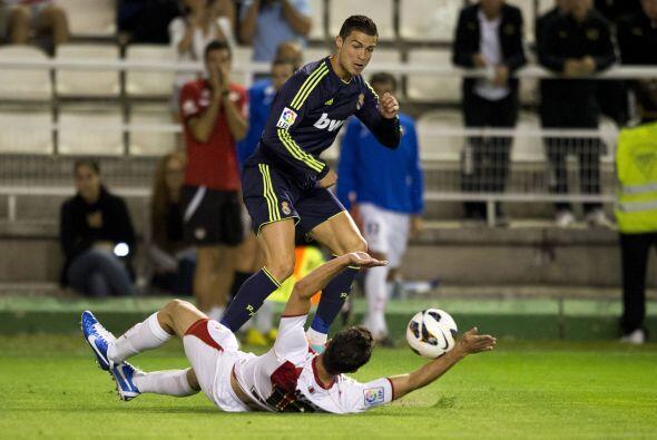 Para la parte complementaria, Cristiano seguía en busca del gol sin cont...