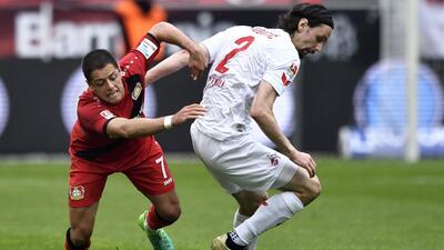 'Chicharito' volvió a la titular del Bayer Leverkusen en empate 2-2 contra Colonia