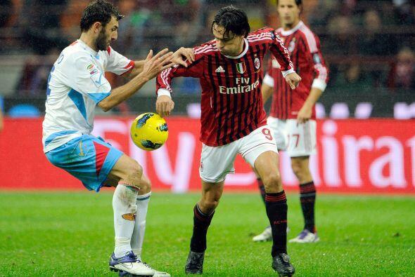 Entró algunos minutos a la cancha el legendario Filippo Inzaghi.