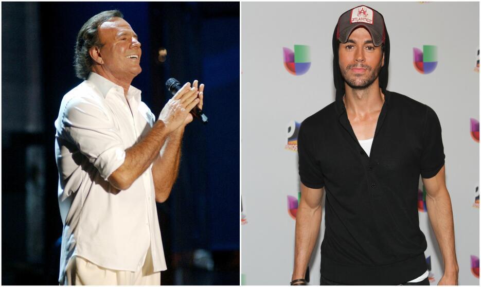 Julio y Enrique Iglesias.