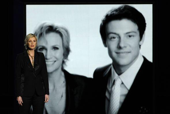 """Otro momento emotivo fue cuando Jane Lynch recordó a su compañero en """"Gl..."""