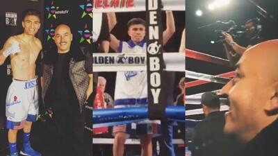 Lupillo Rivera se estrenó con éxito en el mundo del boxeo, su pupilo gan...