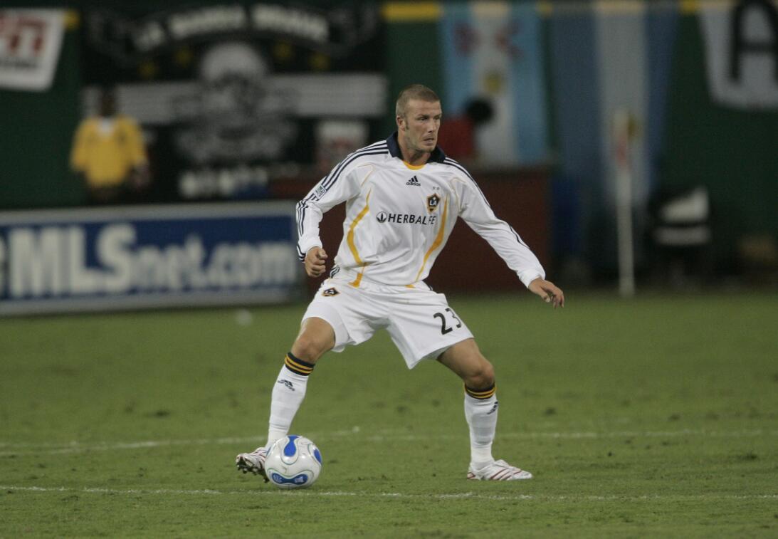 David Beckham - el 'Spice Boy' debutó con LA Galaxy en el 2007....