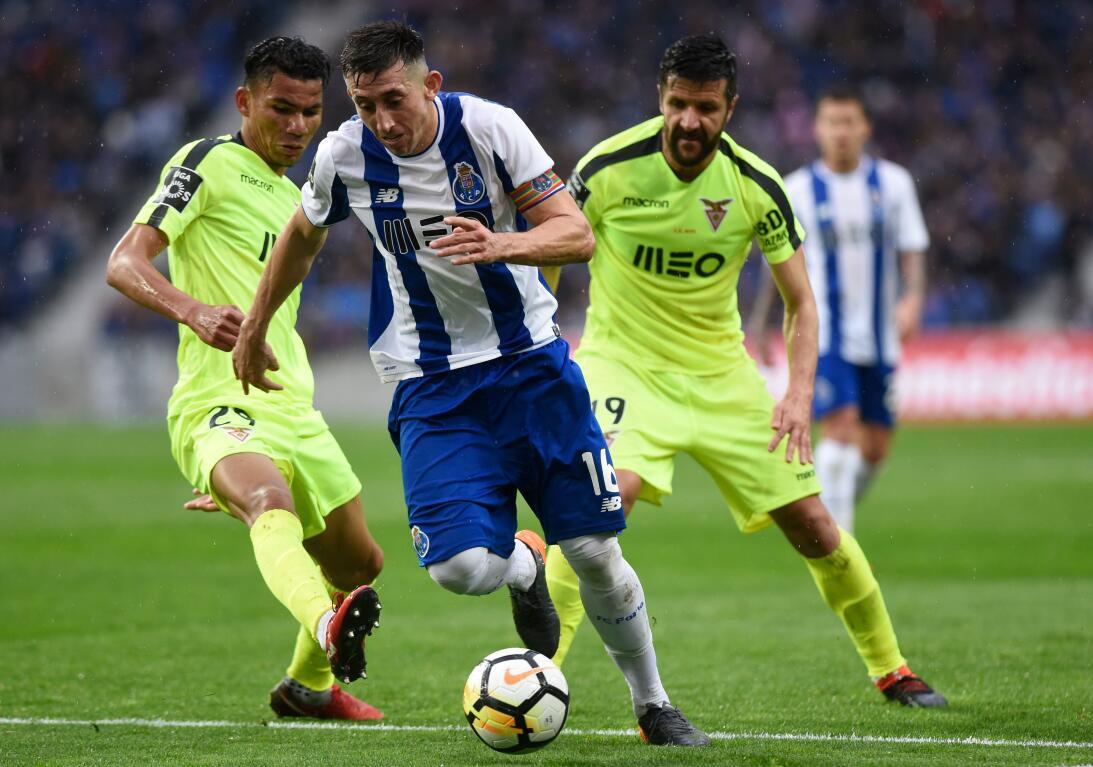 Héctor Herrera: fue el único de los nuestros que jugó en el triunfo del...