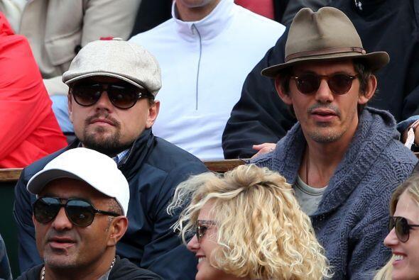 Nuevamente vimos a DiCaprio, ahora en el partido de Federer.