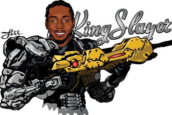 Kawhi Leonard como 'King Slayer'.