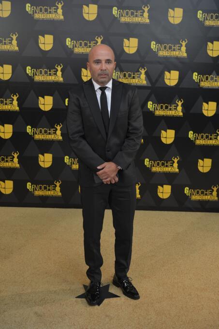 El entrenador de la selección de Chile Jorge Sampaoli listo para el show.