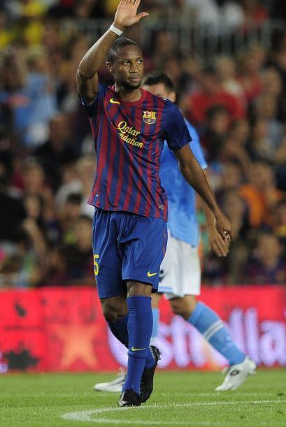 Seydou Keita aprovechó un gran servicio de Andrés Iniesta con otro tanto...